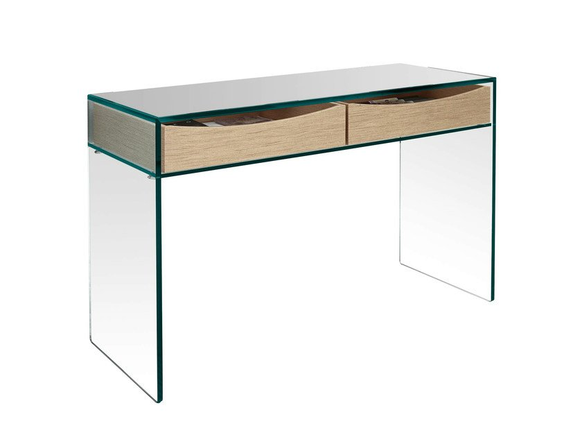 Glass office desk GULLIVER 2 - T.D. Tonelli Design