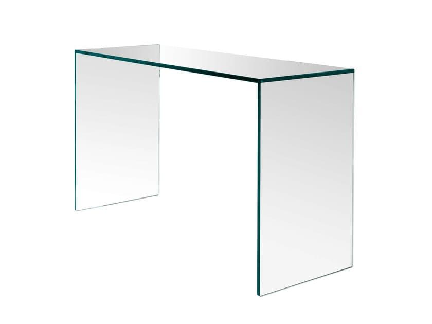 Glass office desk GULLIVER - T.D. Tonelli Design