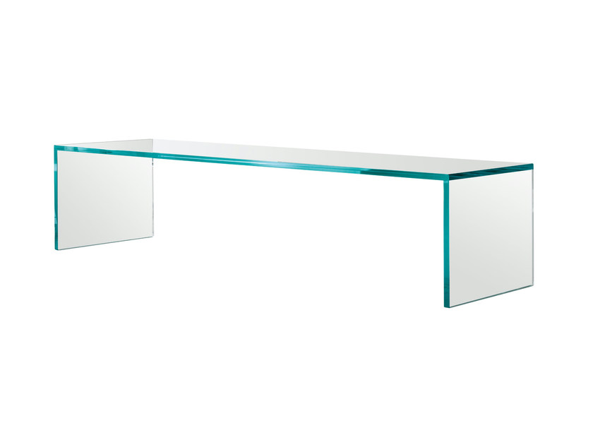 Low glass coffee table CAPO HORN - T.D. Tonelli Design