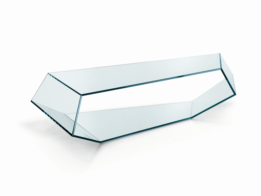 Glass coffee table DEKON 2 - T.D. Tonelli Design