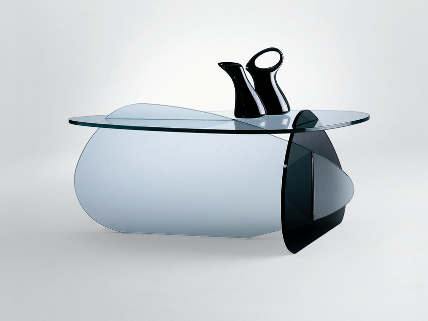 Tavolino in vetro kat   t.d. tonelli design