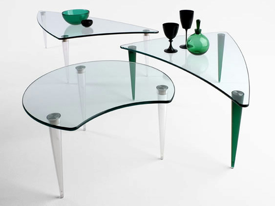 Glass coffee table LOBACEVSKIJ - T.D. Tonelli Design