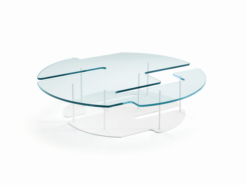 Glass coffee table PLAYTIME - T.D. Tonelli Design