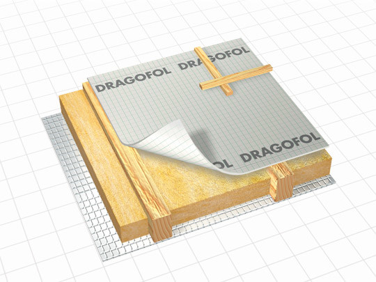 Breathable protective fabric for roof space DRAGOFOL by DÖRKEN ITALIA