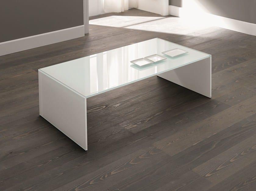 Glass coffee table QUBIK - T.D. Tonelli Design