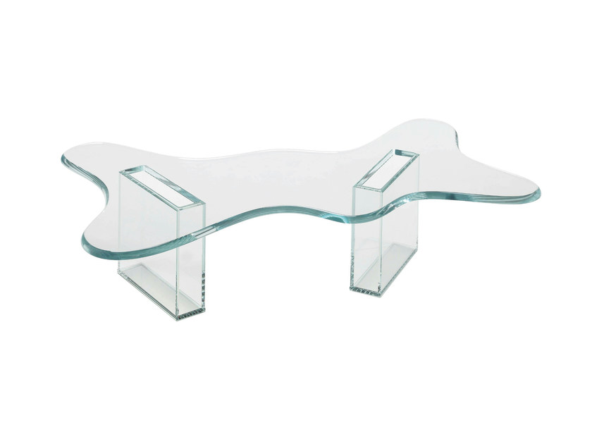 Glass coffee table SPLASH - T.D. Tonelli Design