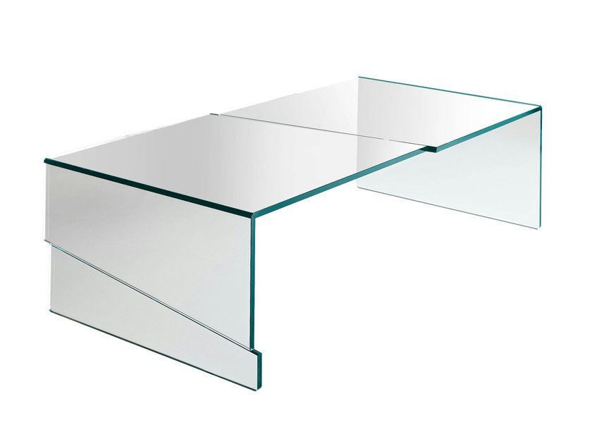 Glass coffee table STRAPPO - T.D. Tonelli Design