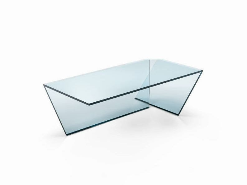 Glass coffee table TI by Tonelli Design