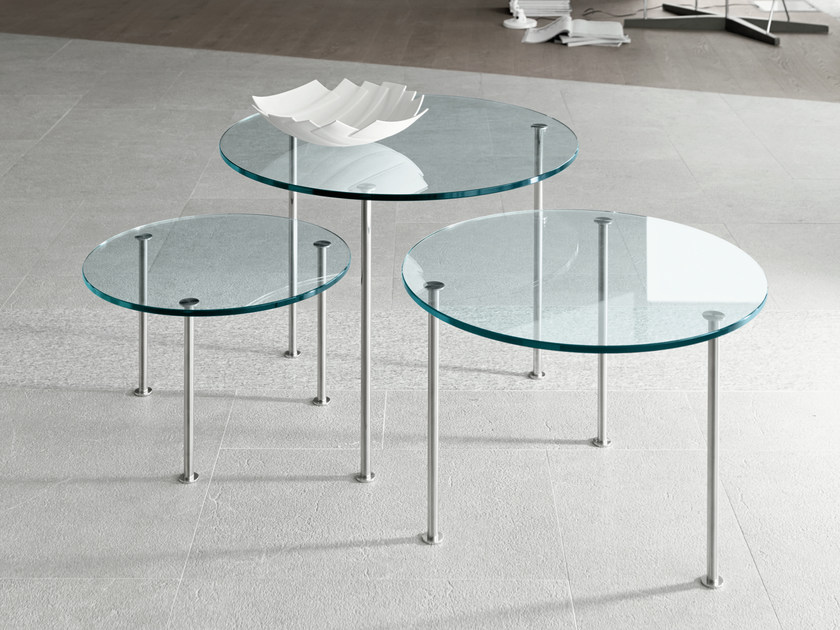 Glass coffee table TWIG - T.D. Tonelli Design