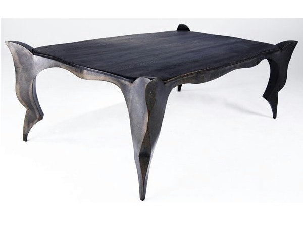 Rectangular steel table GOTHIC - ICI ET LÀ