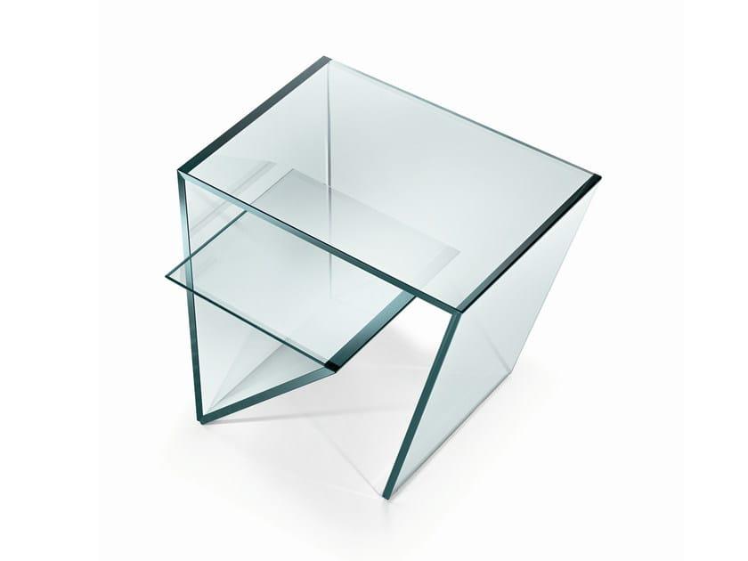 Glass side table ZEN - T.D. Tonelli Design