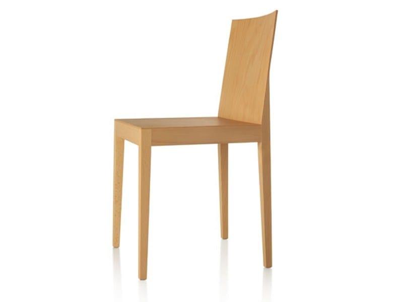 Stackable beech chair CINDY | Chair - Zilio Aldo & C.