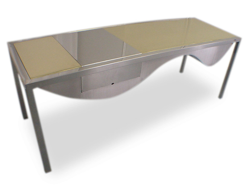 Rectangular stainless steel table ORO INCA - ICI ET LÀ
