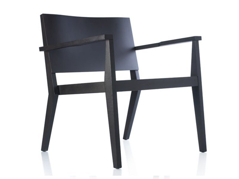 Beech easy chair with armrests SITI by Zilio A&C