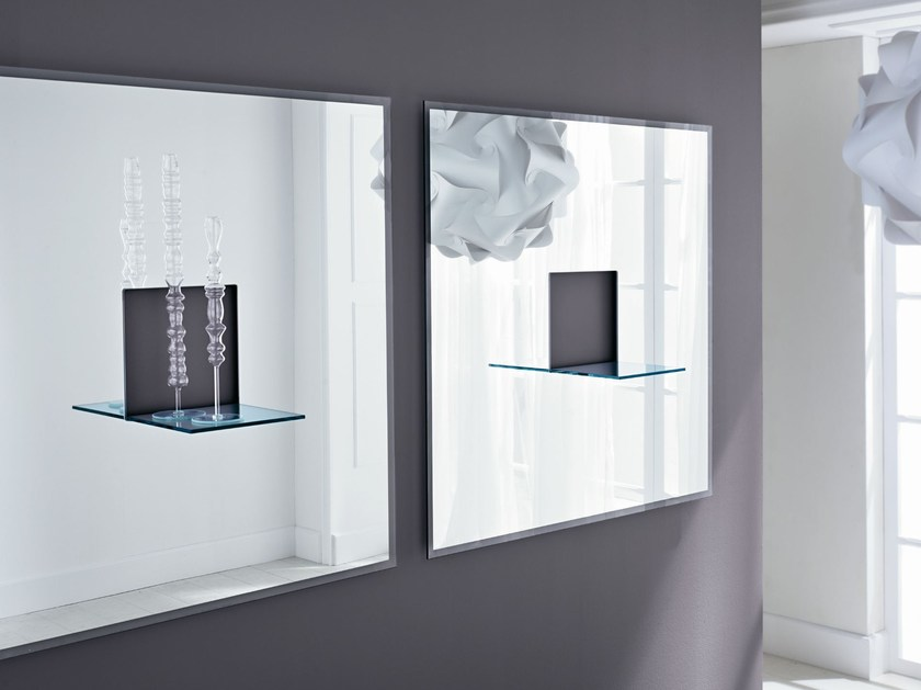 Square wall-mounted mirror ESSENZA - T.D. Tonelli Design