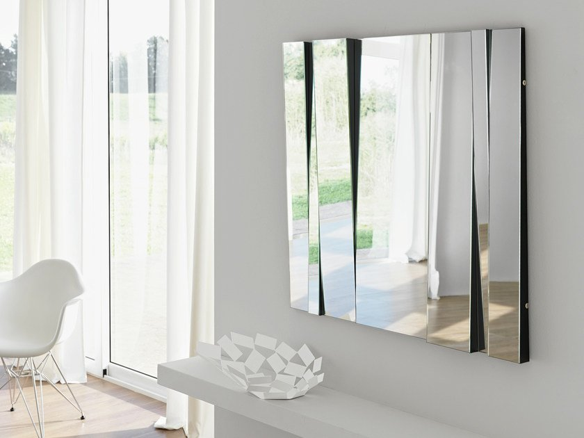 Rectangular wall-mounted mirror FITTIPALDI - T.D. Tonelli Design