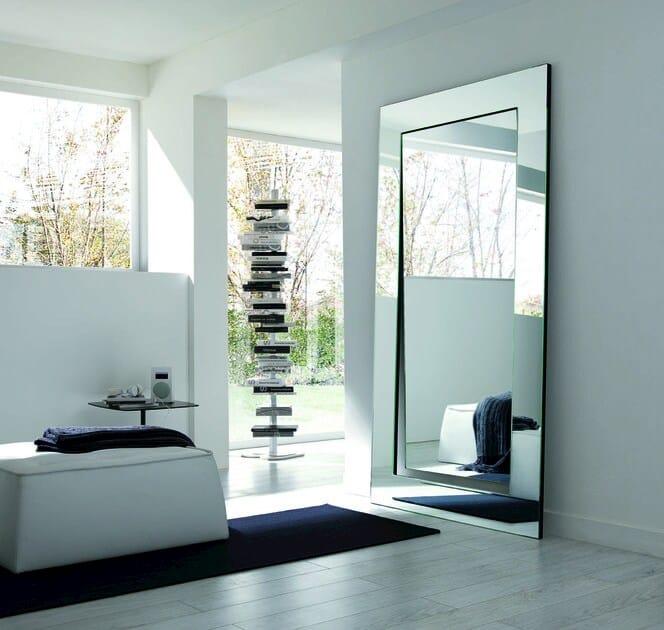Specchio rettangolare a parete GERUNDIO | Specchio rettangolare ...