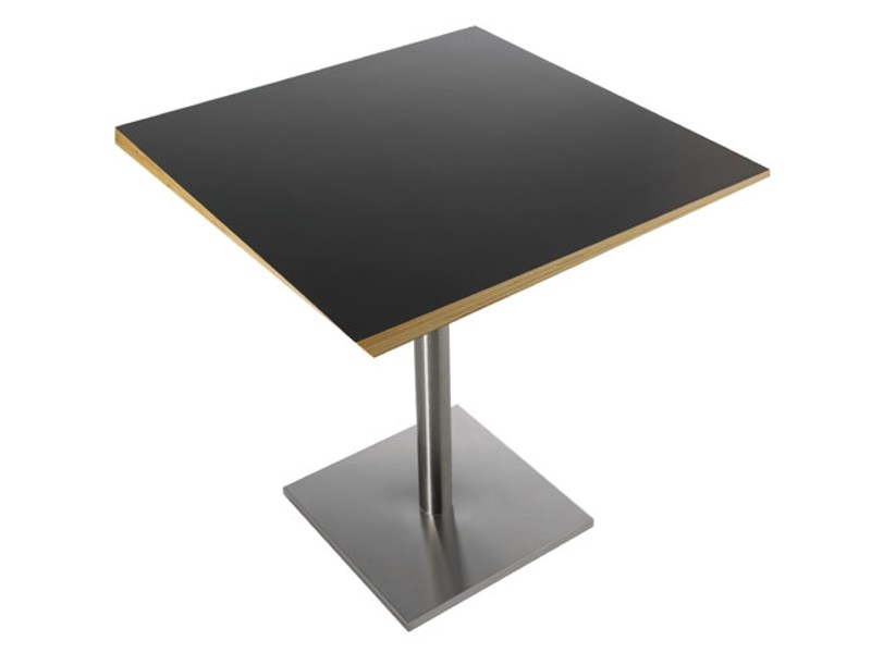 Square wooden table LAYER by Zilio A&C