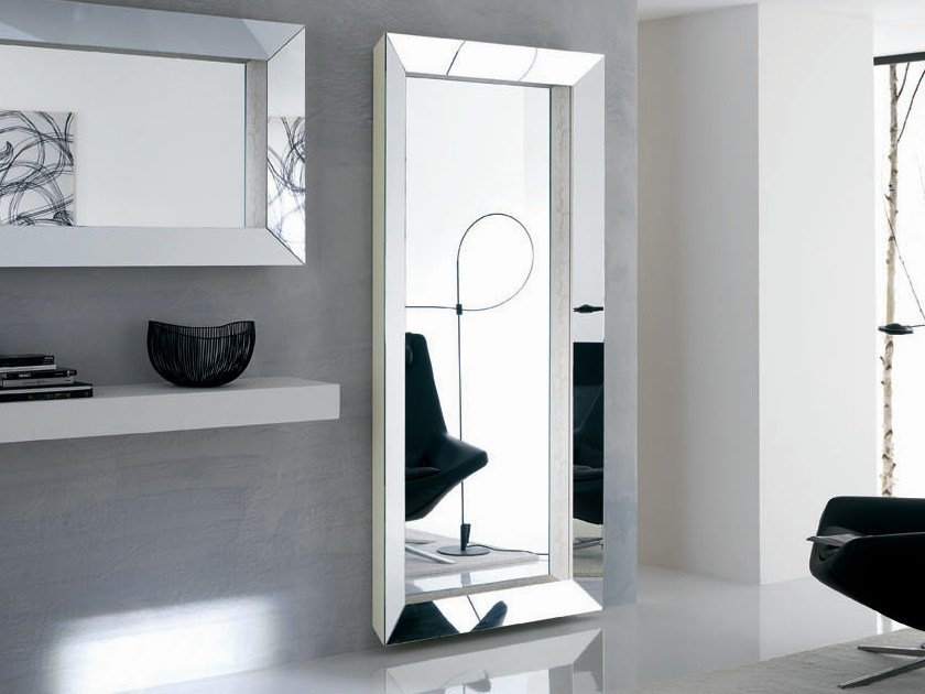 Wall-mounted rectangular mirror THE GREAT BEYOND - T.D. Tonelli Design