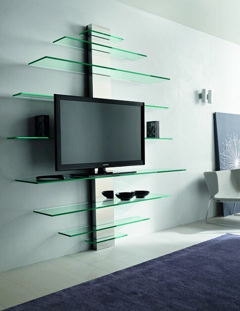 Glass TV cabinet MONDOVISIONE - T.D. Tonelli Design