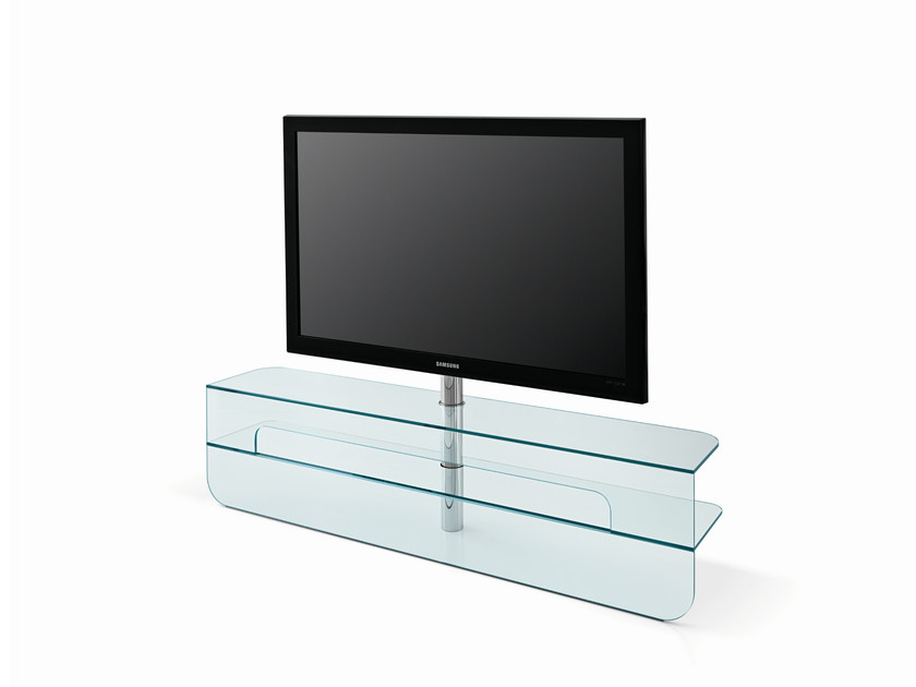 tv lowboard aus glas plasmatik by t d tonelli design design karim rashid. Black Bedroom Furniture Sets. Home Design Ideas