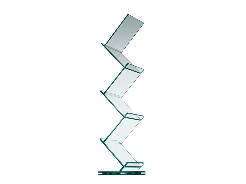 Swivel glass bookcase ALBERO - T.D. Tonelli Design