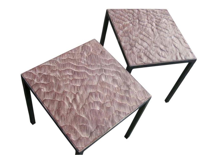 Square iron coffee table MESITA ARENA - ICI ET LÀ