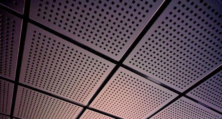 Acoustic plasterboard ceiling tiles TILE 8/18Q - FIBRAN