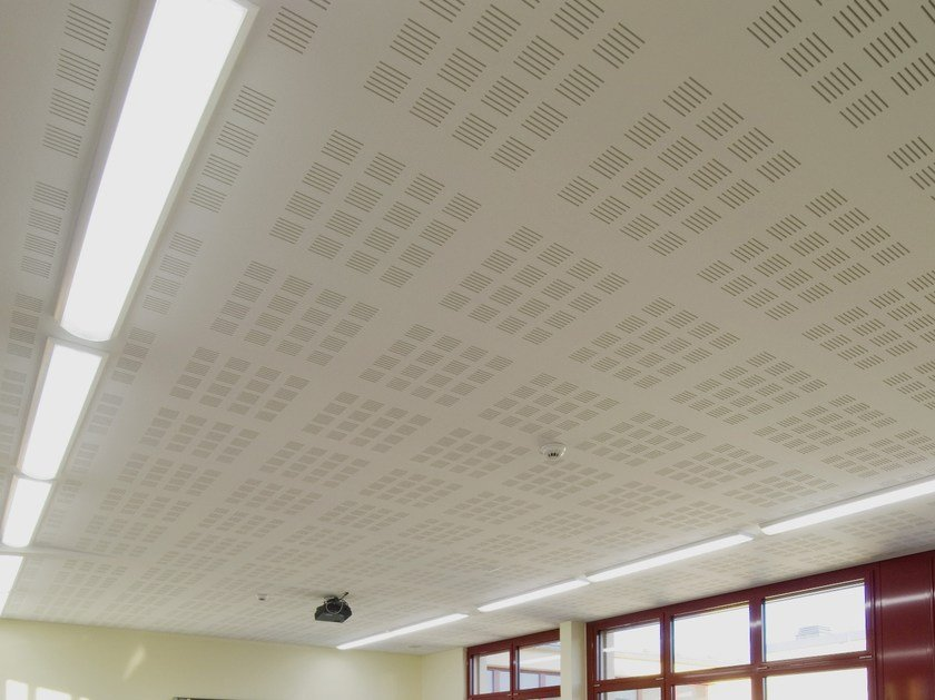 Faux plafond acoustique en placo lastra db 8f by fibran for Faux plafond acoustique