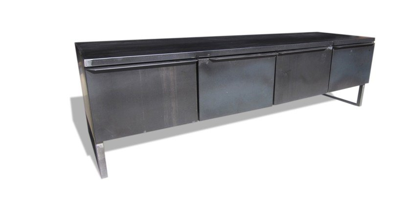 Industrial style steel sideboard THE BLACK BOX | Industrial style sideboard - ICI ET LÀ
