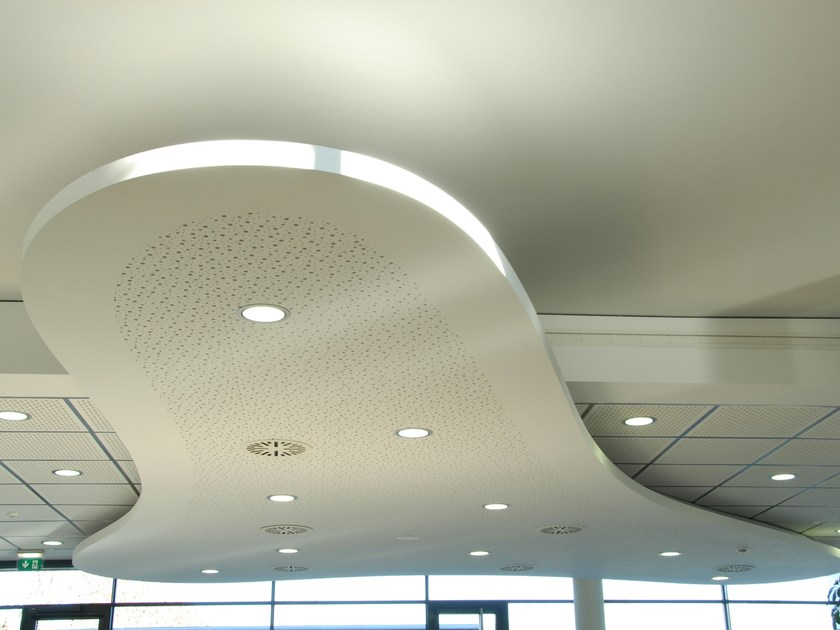 Acoustic plasterboard ceiling tiles LASTRA SF 6/18F - FIBRAN