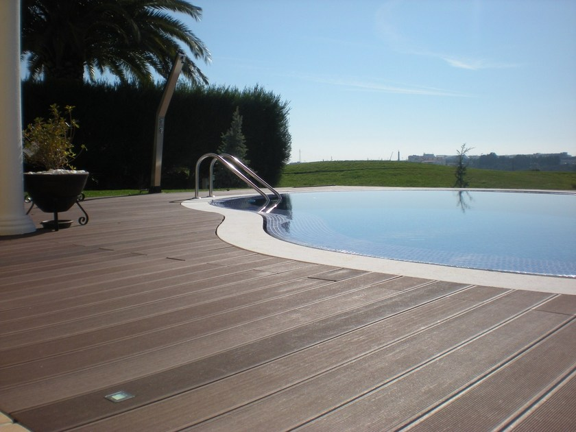 Outdoor engineered wood wall/floor tiles TECNODECK® by GRUPPO SOGIMI