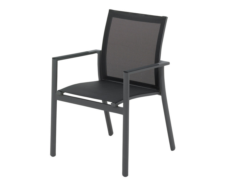 Stackable garden chair with armrests AZORE | Garden chair - Gloster