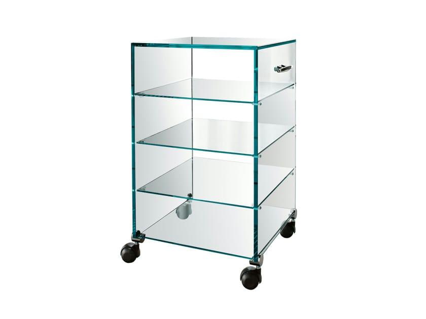 Glass trolley ALTROVE - T.D. Tonelli Design
