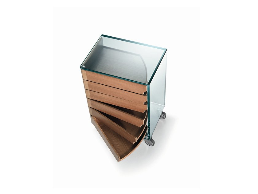 Wooden chest of drawers with casters CAMICINO - T.D. Tonelli Design