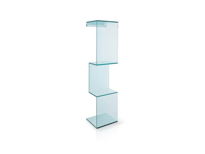 Glass wall shelf CLING by Tonelli Design