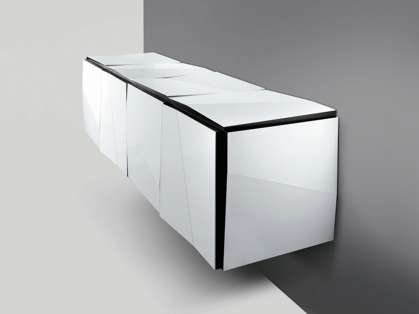 Mirrored glass sideboard with doors PSICHE | Sideboard - T.D. Tonelli Design