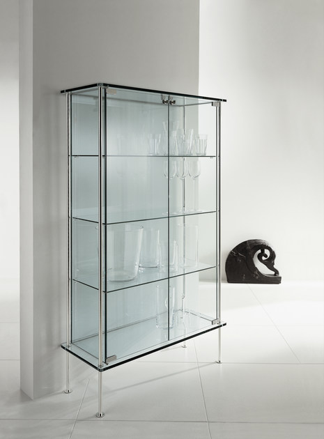 vitrine aus glas shine by tonelli design design donato d 39 urbino paolo lomazzi. Black Bedroom Furniture Sets. Home Design Ideas