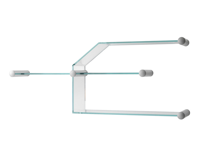 Glass bookcase / wall shelf TRANSISTOR - T.D. Tonelli Design