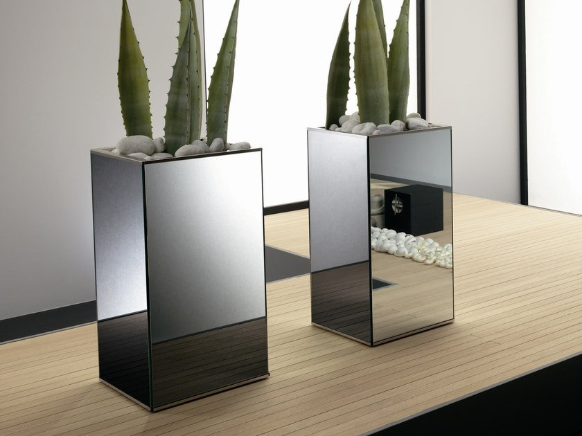 Mirrored glass vase LINGO - T.D. Tonelli Design
