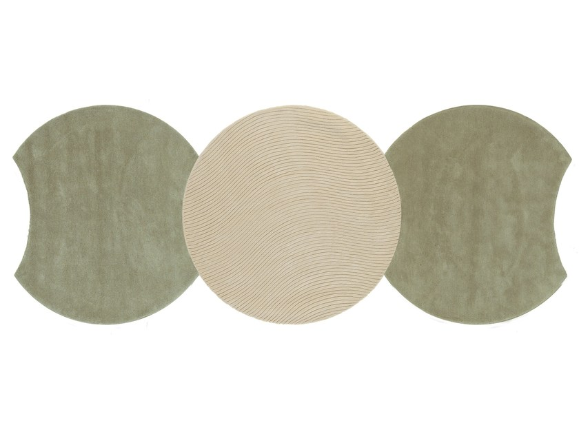 Round wool rug EGO | Round rug by NOW CARPETS