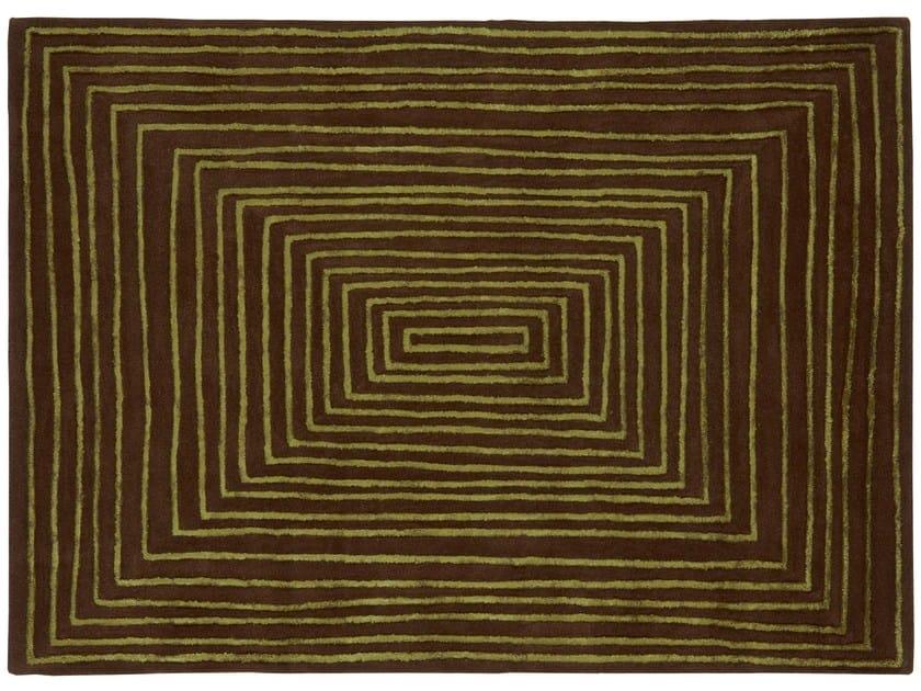 Rectangular wool rug LAPS | Rectangular rug by NOW CARPETS