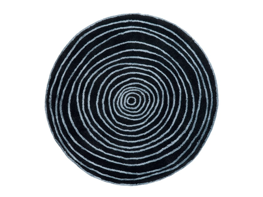 Round rug with geometric shapes LAPS | Round rug - NOW CARPETS