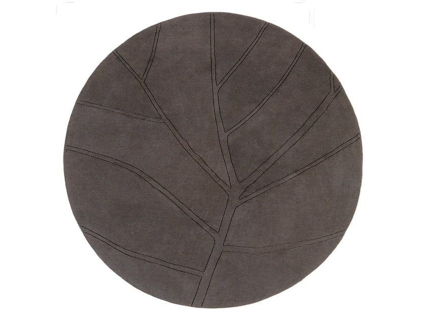 Round wool rug LEAF | Round rug - NOW CARPETS