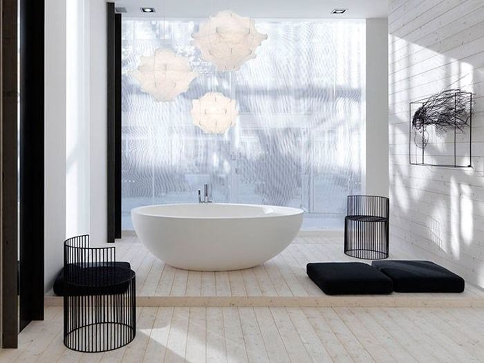 Vasca da bagno centro stanza in ceramica le giare vasca da bagno ceramica cielo - Vasca da bagno ceramica ...