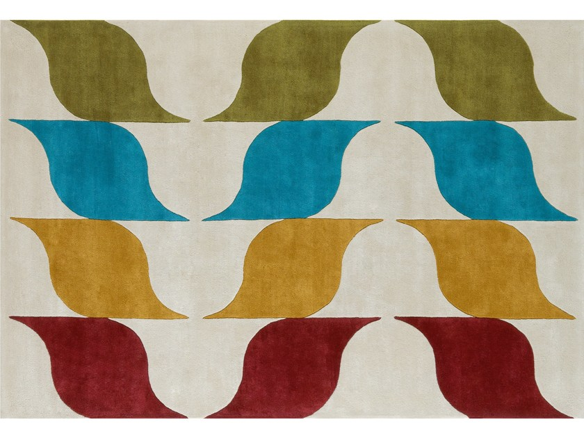 Patterned wool rug AMUSÉE - NOW CARPETS