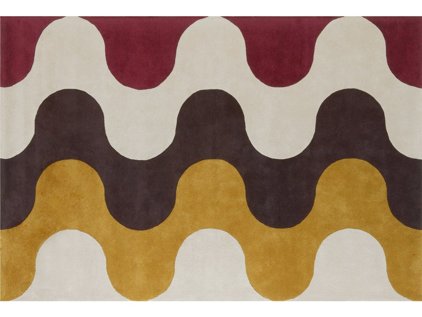 Patterned wool rug FLAMMES - NOW CARPETS