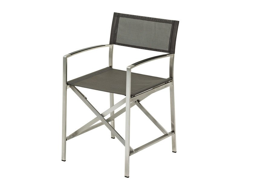 Folding garden chair with armrests FUSION | Folding chair - Gloster