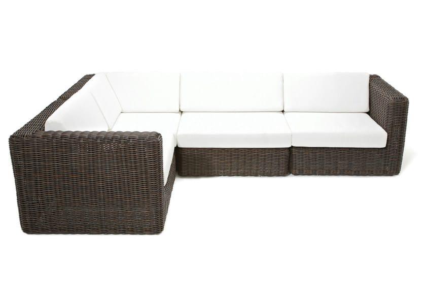 Sectional modular garden sofa HAVANA | Sectional garden sofa - Gloster
