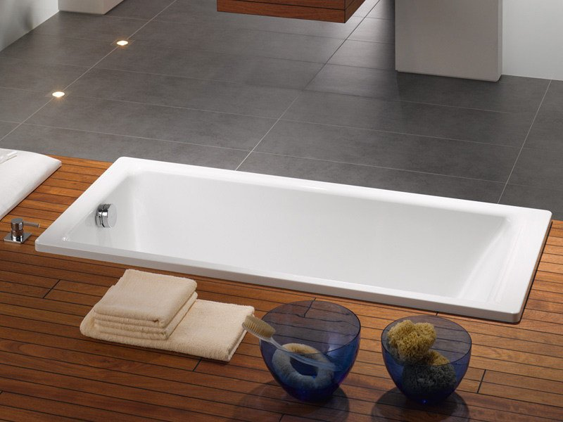 Rectangular steel bathtub PURO - Kaldewei Italia